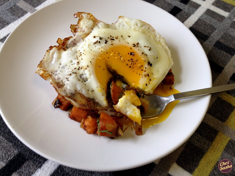 Curried sweet potato hash