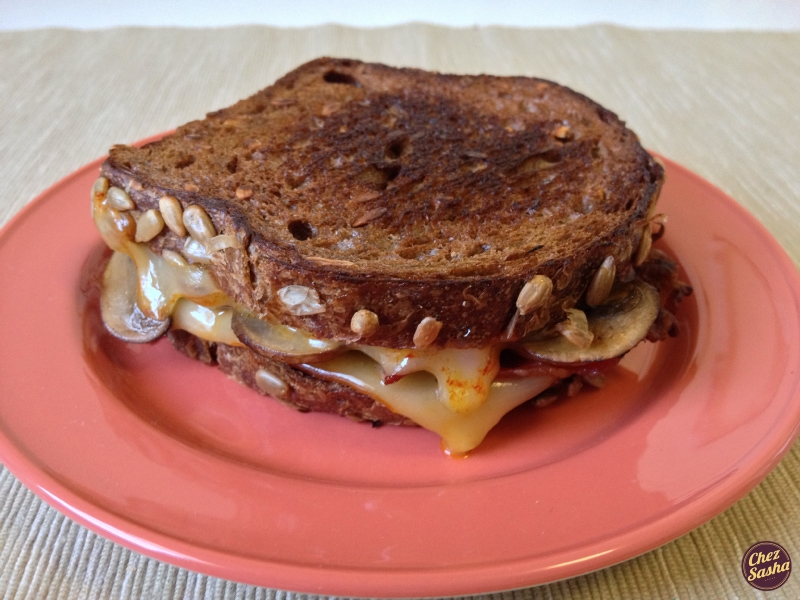 Bacon and Mushroom Grilled Cheese