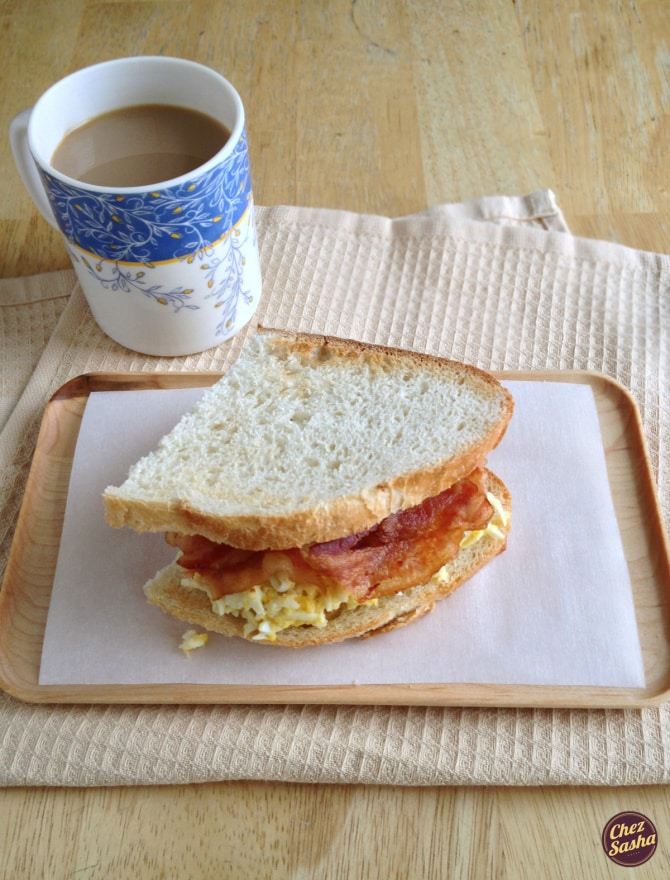 Sandwich of the Month: Egg salad w/ bacon
