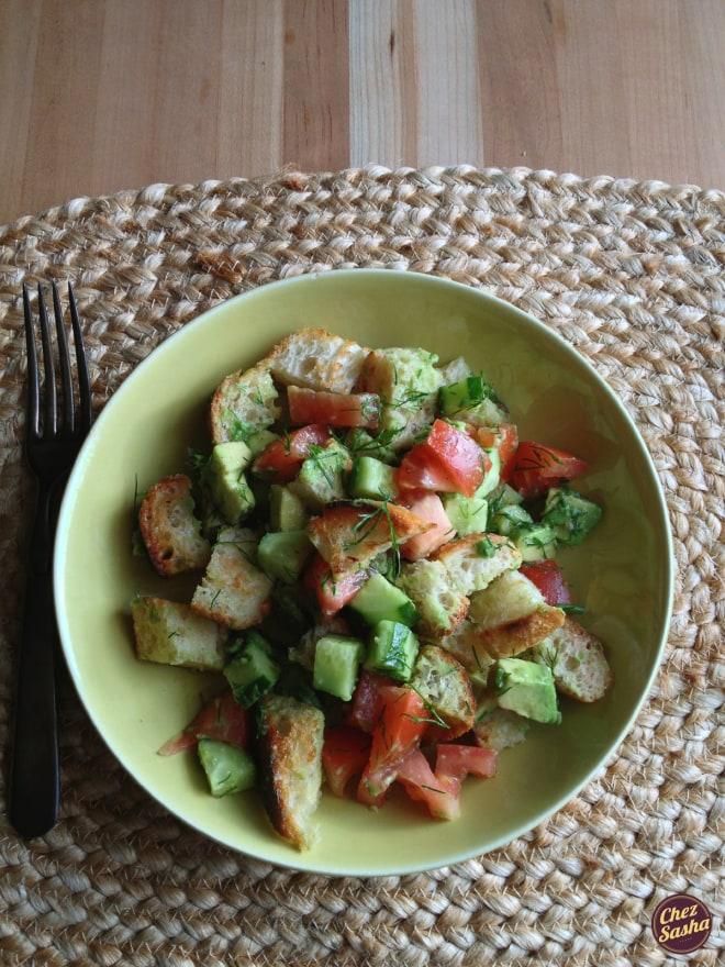 Panzanella, the bread lover's salad