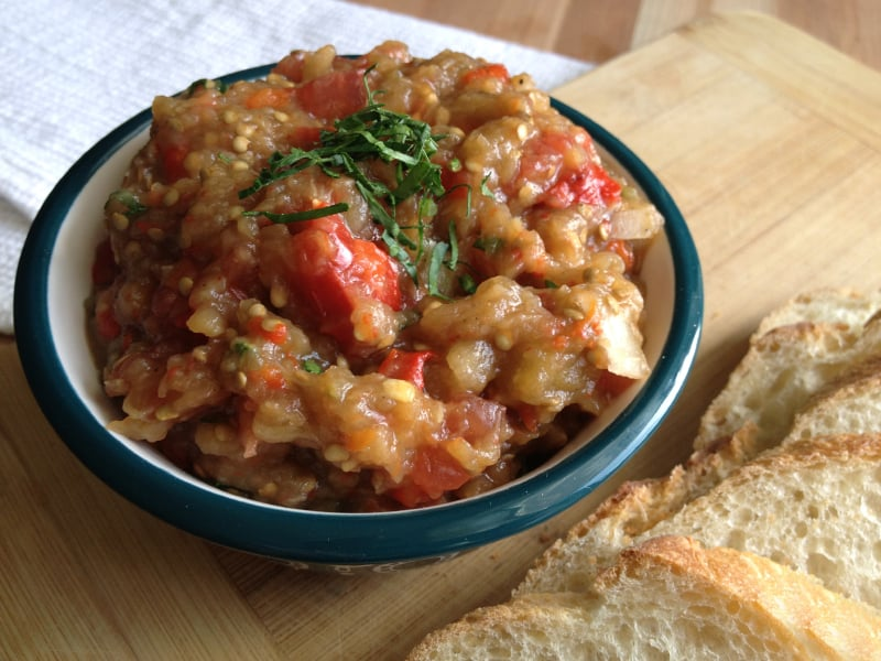 Russian-style Roasted Eggplant Spread | The New Baguette