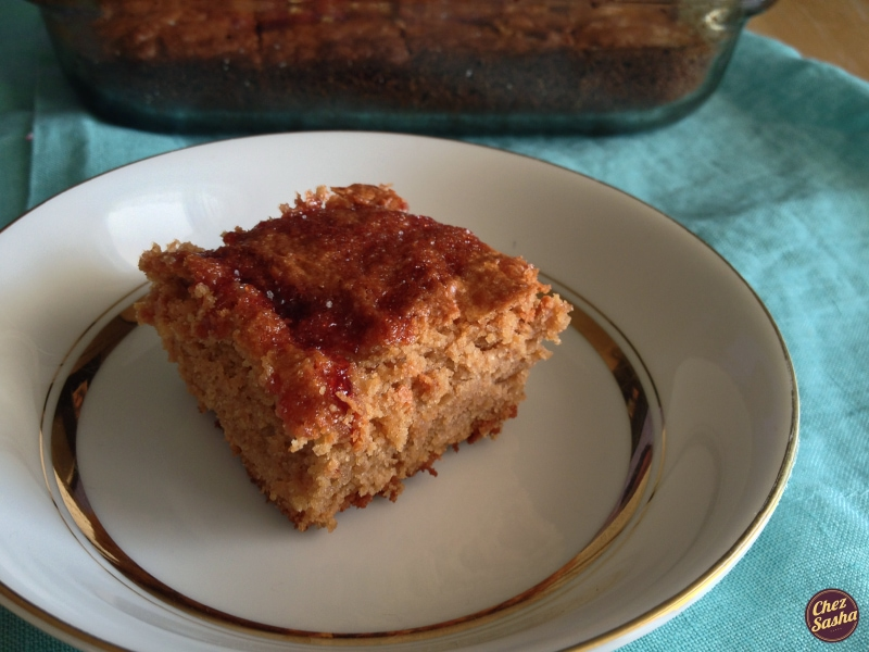 Salted peanut butter and jelly squares