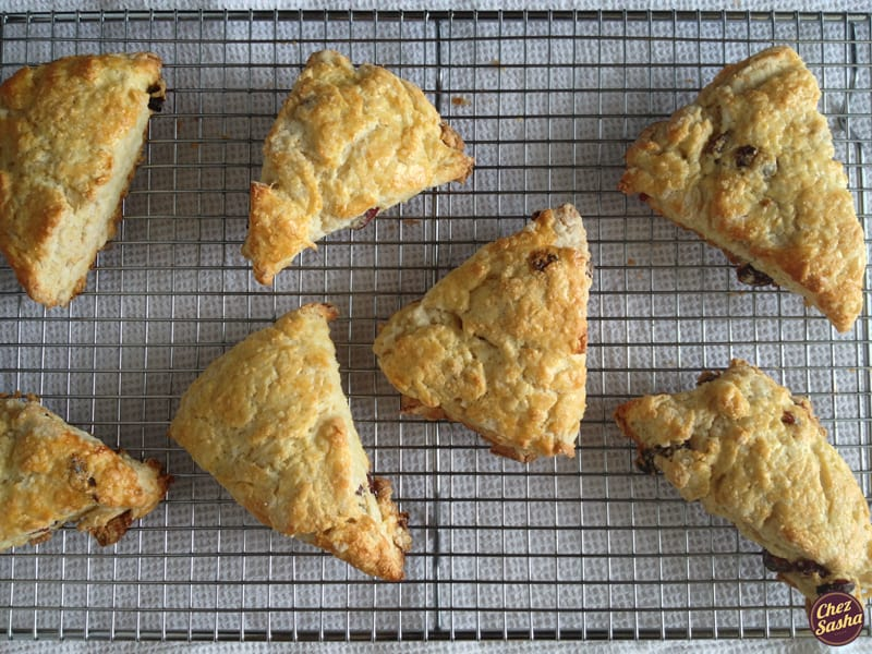 Almond-cranberry buttermilk scones