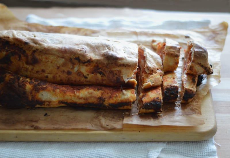 Scaccia Ragusana (Sicilian Tomato and Cheese Pie)