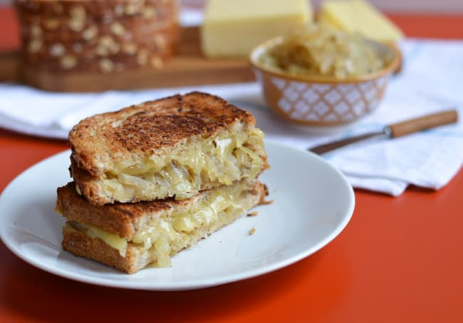 Onion confit grilled cheese