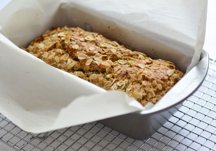 Zucchini Bread with Honey-Herb Butter