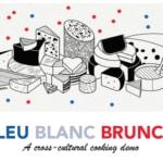 Invitation Bleu Blanc Brunch ft