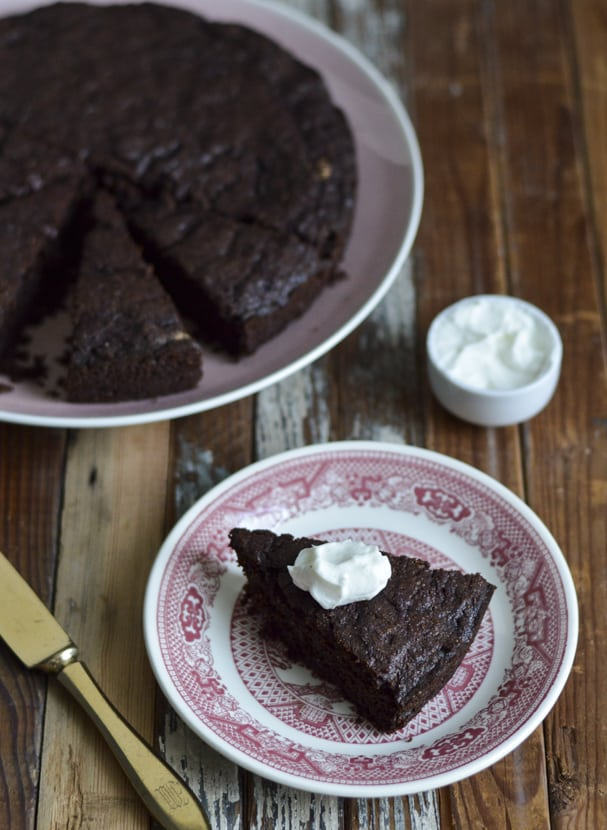 Beet Cake with Coffee Flour