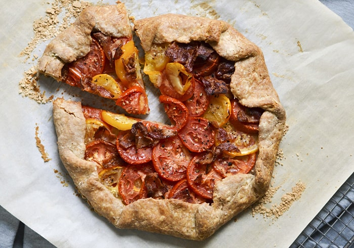 Bid-Summer-Adieu Tomato Galette with Bacon
