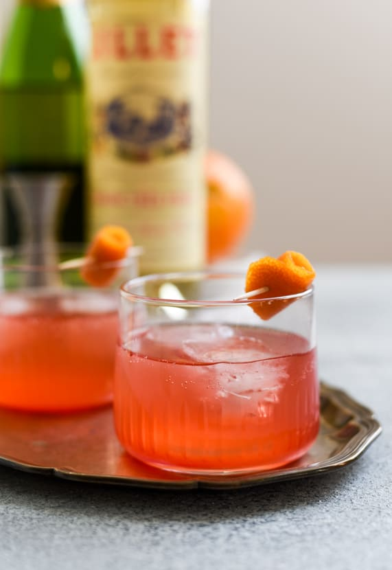Cranberry-Orange Holiday Punch with Lillet | The New Baguette