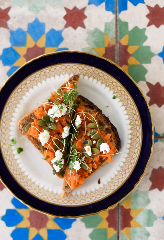 Mashed Carrot Toasts with Pumpkin Seeds   The New Baguette