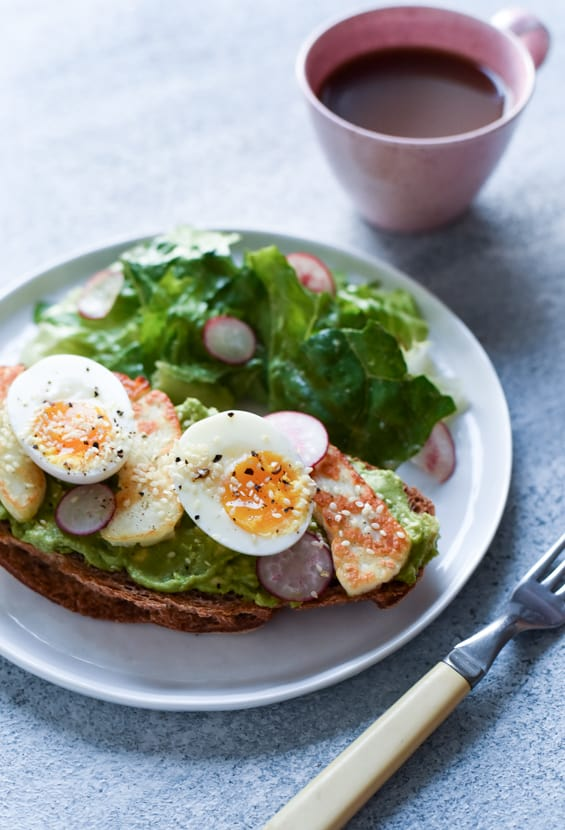 The Ultimate Avocado Tartine with Halloumi Cheese & 6-Minute Eggs | The New Baguette