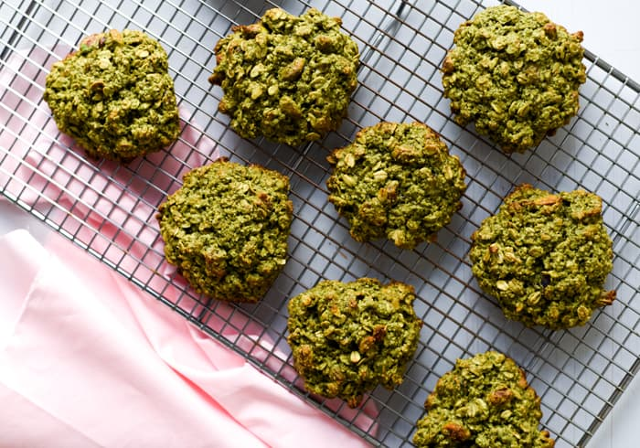 Matcha-Oatmeal Breakfast Cookies