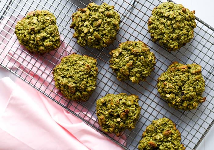 Matcha-Oatmeal Breakfast Cookies