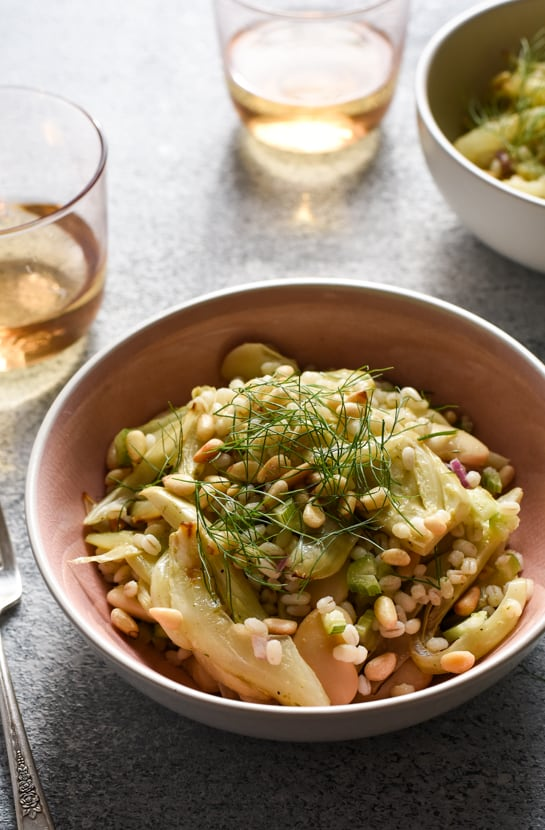 Barley Salad with Roasted Fennel, Butter Beans and Caper Vinaigrette | The New Baguette