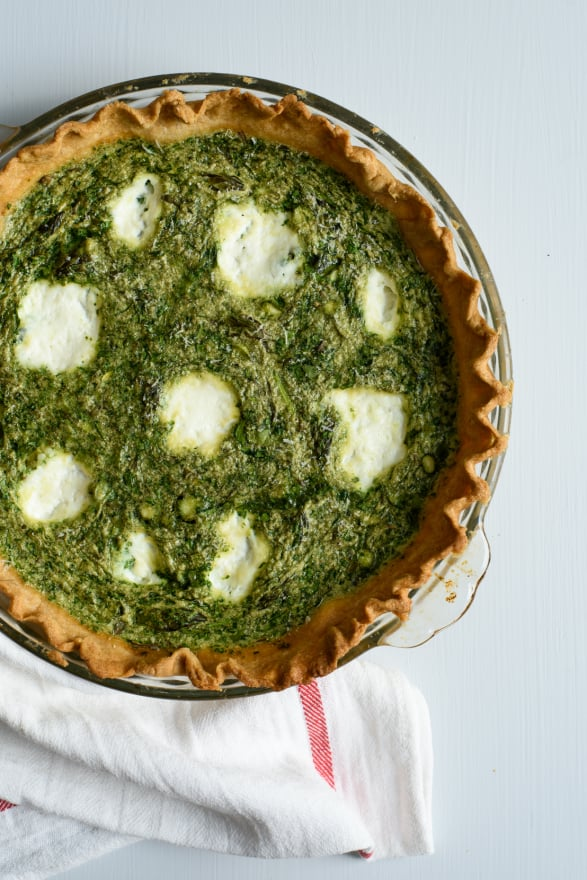 Spinach-Asparagus Quiche with Ricotta | The New Baguette