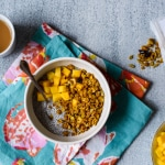 The Breakfast Club: Cardamom Chia Pudding with Mango and Turmeric Granola | The New Baguette