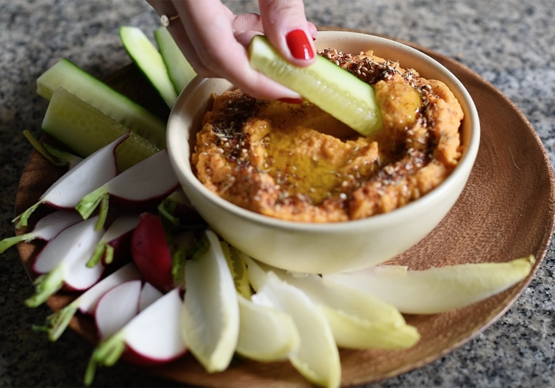 Video: Sweet Potato-Tahini Dip with Za'atar from Friendsgiving