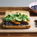 Black Bean, Cucumber and Sweet Potato Sandwich with Spicy Vegan Mayo | Vegan Dinner Ideas | The New Baguette