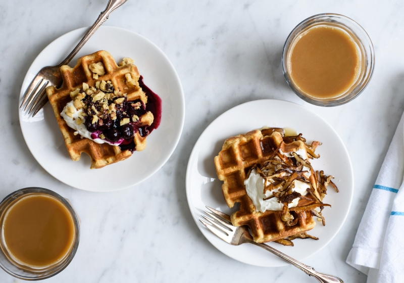 Easy Oat Waffles with Sweet & Savory Toppings | Valentine's Day Recipes | The New Baguette