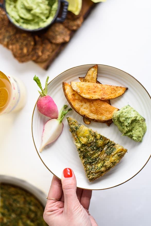 Yes Way, Buffet: 4 Tips and a Menu for a Festive Spring #Brunch | Artichoke Frittata & Avocado Green Goddess Dip