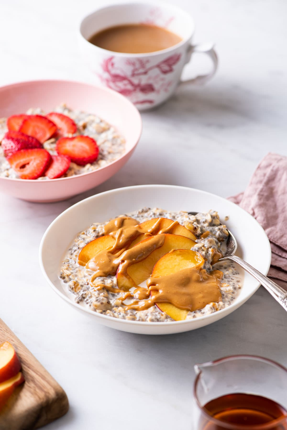 Overnight Oats with Chia Seeds | The New Baguette | #vegan #breakfastrecipes #healthybreakfast