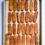 Fuss-free tempeh bacon recipe | Tempeh bacon on a baking sheet