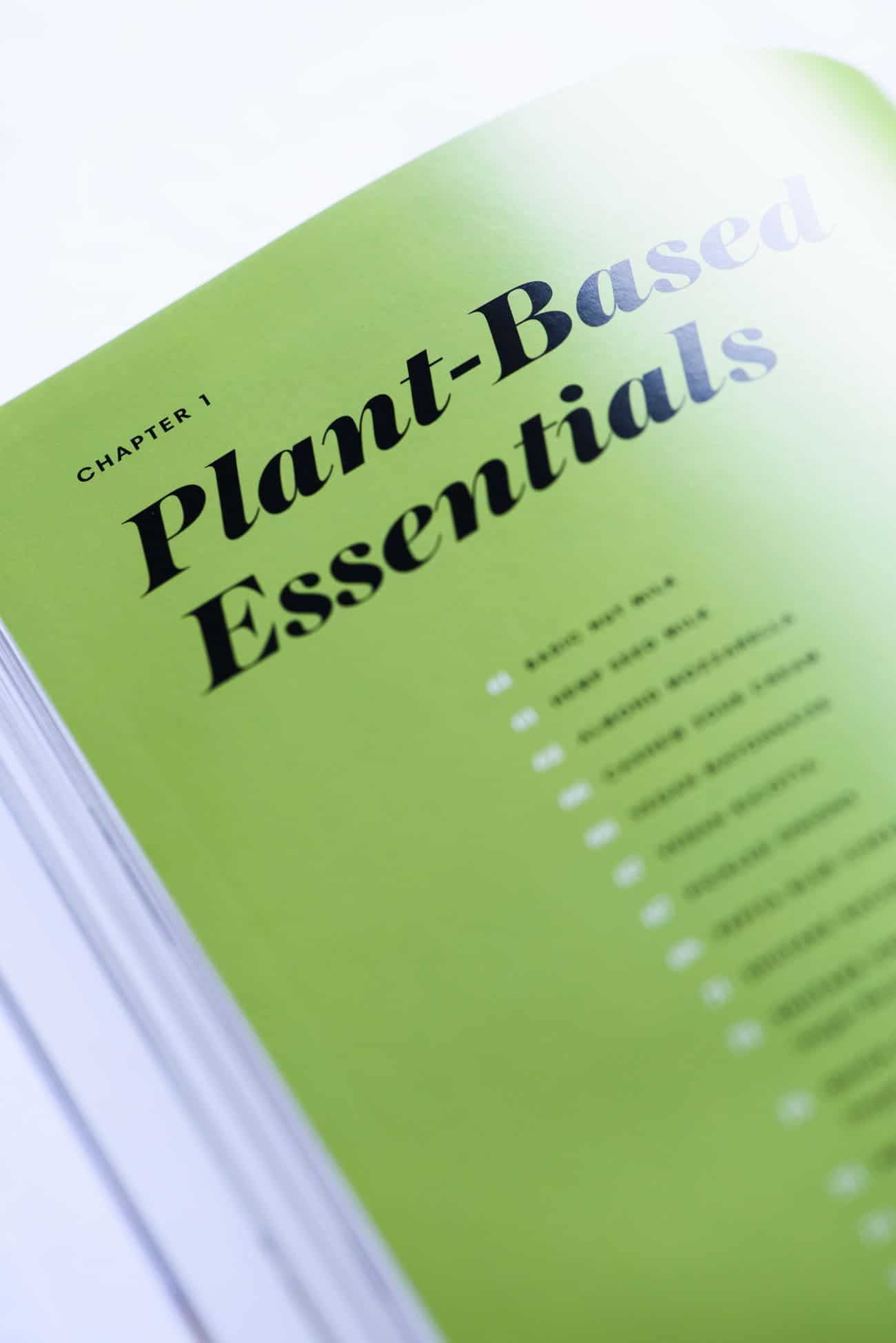 """Plant-Based Essentials"" chapter opener page in The Complete Vegan Cookbook"