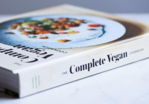 Close-up of The Complete Vegan Cookbook spine