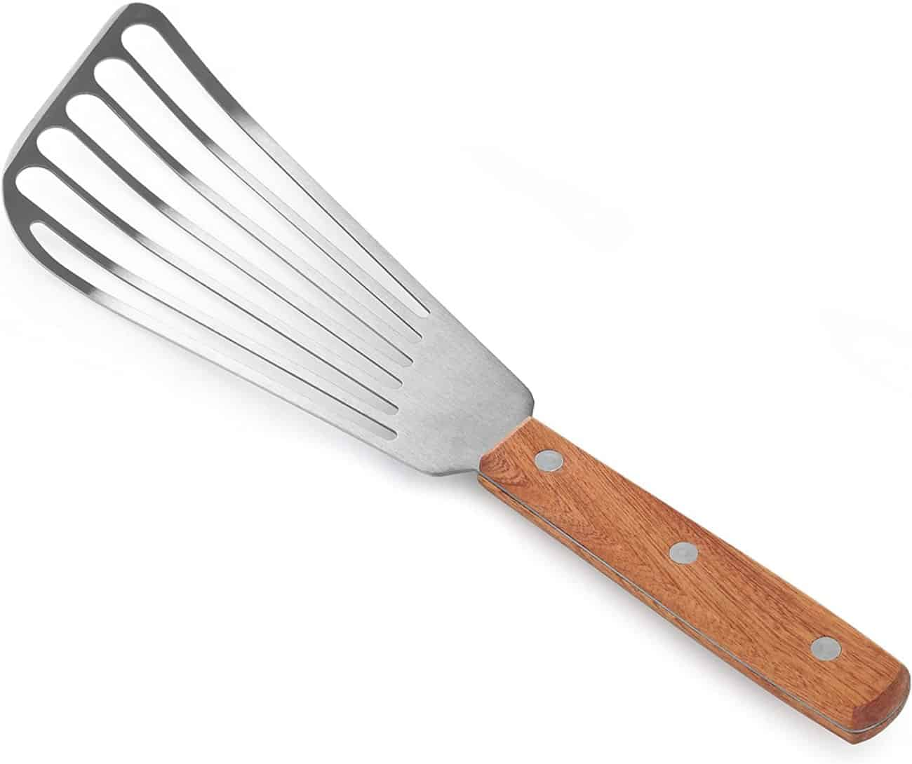 Fish spatula with wooden handle